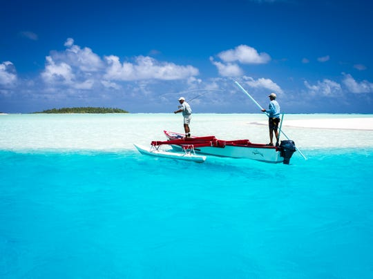 World-class bonefishing is one of the most popular pastimes for Cook Island visitors.