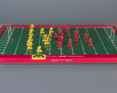 Tudor Electric Football is among the National Toy Hall of Fame's 12 finalists.