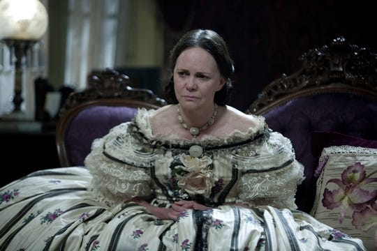 "Sally Field stars as first lady Mary Todd Lincoln in a scene from ""Lincoln."""