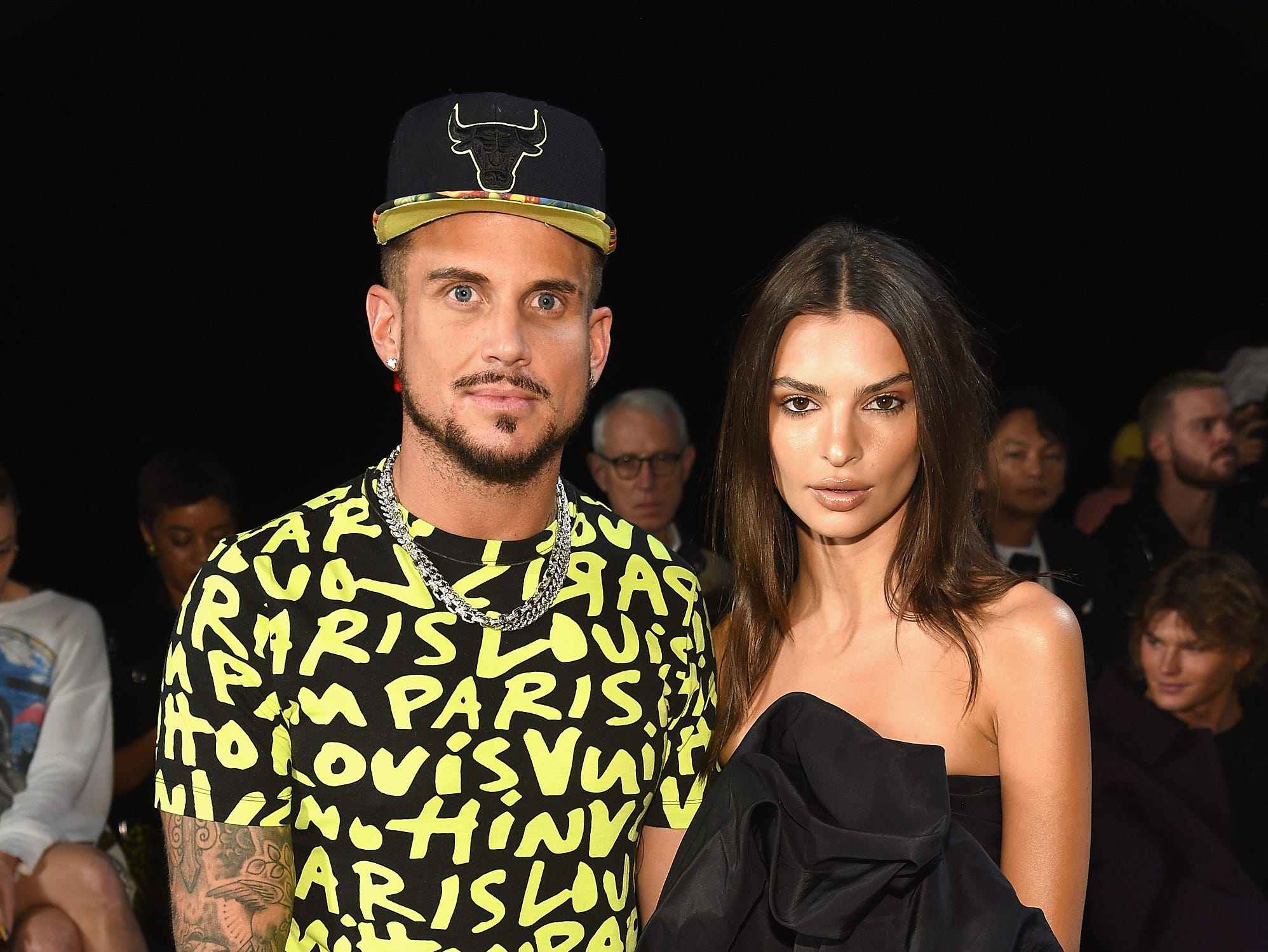 NEW YORK, NY - SEPTEMBER 12: Charly DeFrancesco and Emily Ratajkowski attend the Marc Jacobs Spring 2019 Runway Front Row during New York Fashion Week: The Shows  at Park Avenue Armory on September 12, 2018 in New York City.  (Photo by Dimitrios Kambouris/Getty Images for Marc Jacobs) ORG XMIT: 775216977 ORIG FILE ID: 1032345898