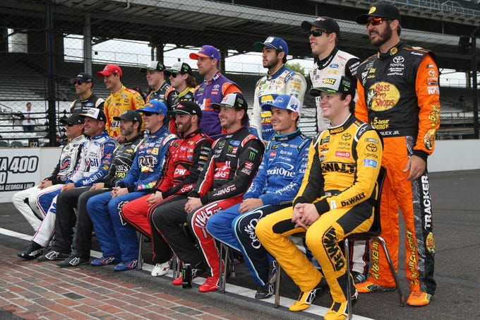 Final rankings and points for all 16 drivers who competed for the 2018 Monster Energy NASCAR Cup Series championship.