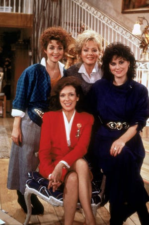 "Annie Potts, left, Dixie Carter, Jean Smart and Delta Burke starred in the original edition of the CBS comedy, ""Designing Women."" Creator Linda Bloodworth Thomason is writing a script for a sequel series."