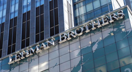 Lehman Bros. headquarters in 2008.