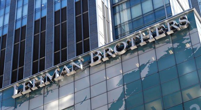 Lehman Bros. headquarters in 2008.