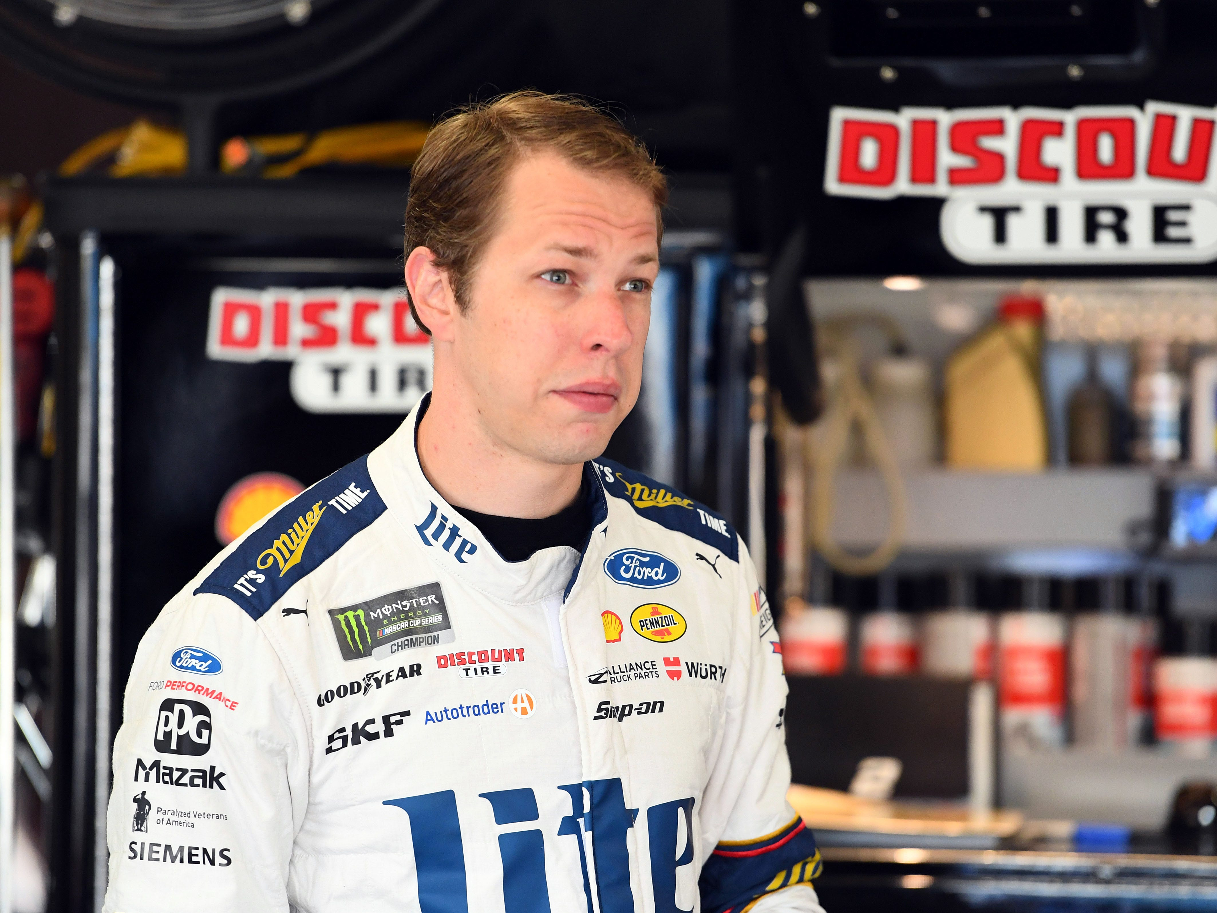 8. Brad Keselowski, 2,343 points (eliminated from playoffs after Race No. 6 at Kansas).