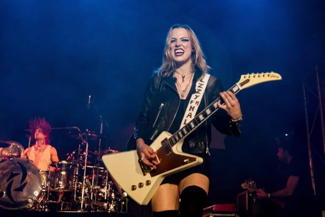 Lzzy Hale of Halestorm performs at The Regency Ballroom on Oct. 19, 2015, in San Francisco.