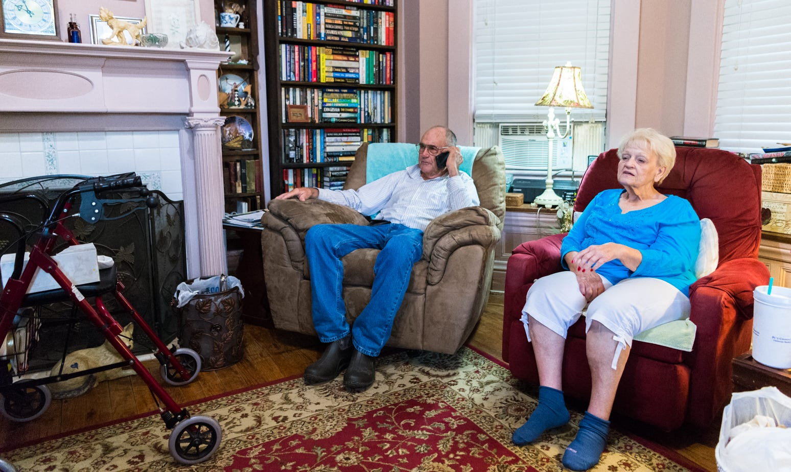 Jimmy Williams, 80 and his wife, Ellen Louise, 79, of Swan Quarter, N.C, will be staying in their home for the duration of Hurricane Florence.