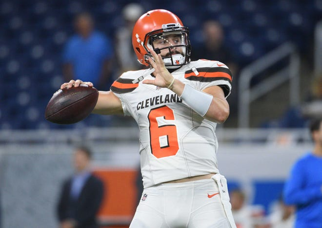 Cleveland Browns quarterback Baker Mayfield was drafted No. 1 overall out of Oklahoma.