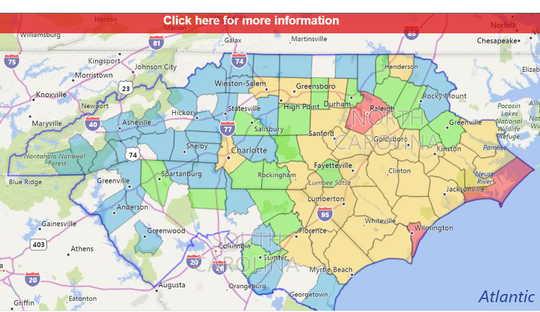 Duke Energy outages as of Friday afternoon.