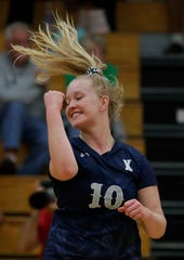 Xavier's Emma Olehlafen is one of the top players for the Xavier girls volleyball team this season. Xavier faces Little Chute on Thursday in a Division 2 sectional semifinal.