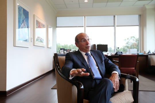 RWJBarnabas Health CEO Barry Ostrowsky talks about what's next for the health care chain and Monmouth Medical Center during an interview this office in West Orange, NJ Friday, September 14, 2018.
