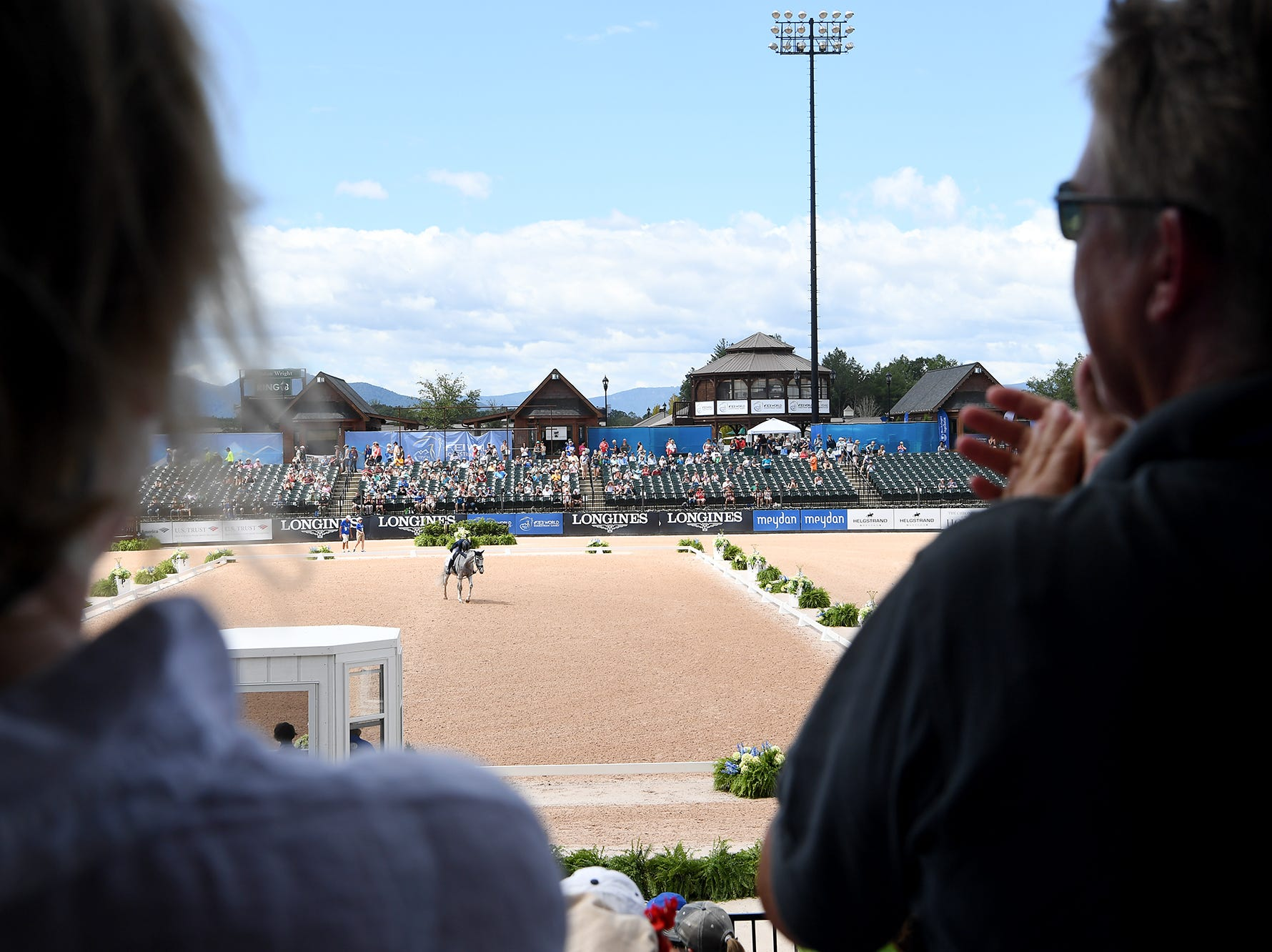 Scenes from the third day of competition at the World Equestrian Games in Tryon Sept. 14, 2018.