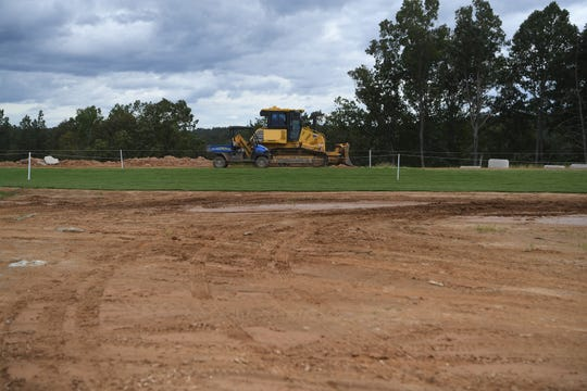 Areas around the cross country course were still under construction at the World Equestrian Games in Tryon Sept. 14, 2018.