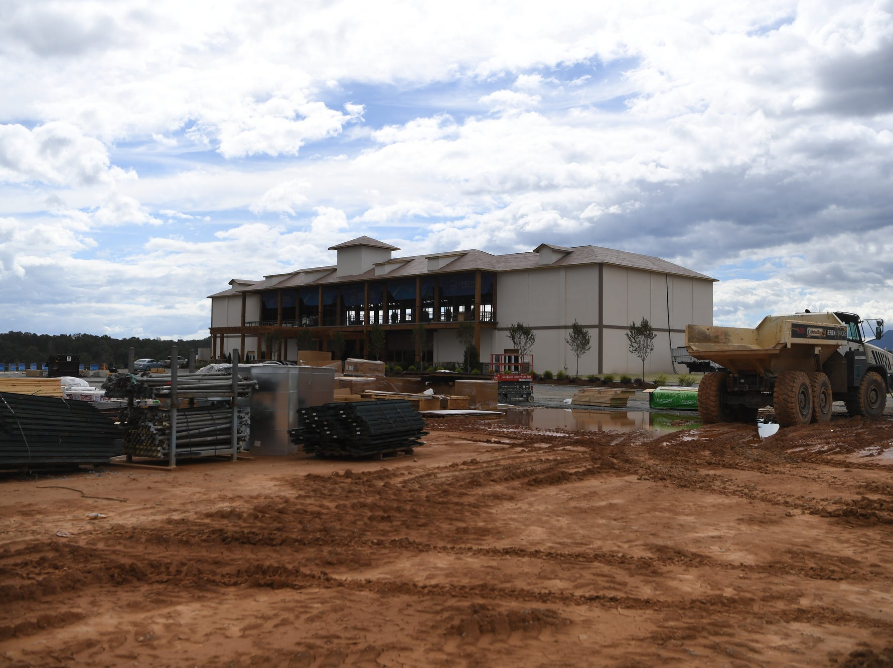 An unfinished building at the World Equestrian Games in Tryon Sept. 14, 2018.