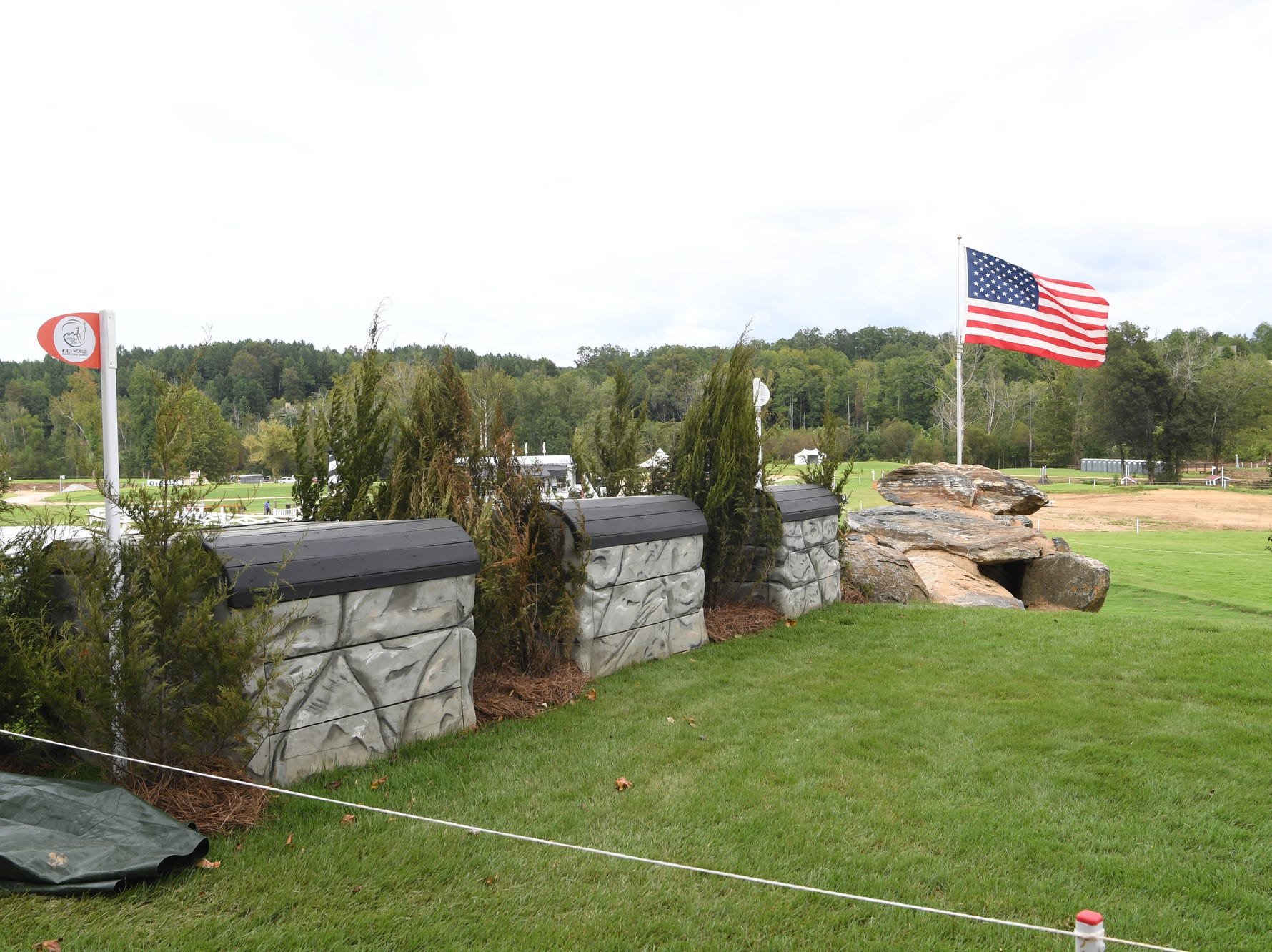 The cross country course at the World Equestrian Games in Tryon Sept. 14, 2018.