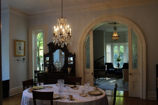 The dining room inside the Cronin house.