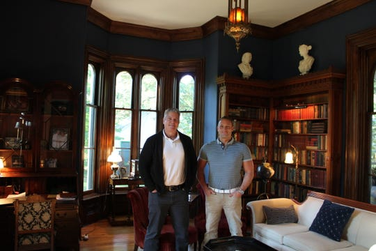 "Jeff Hamilton and Josh Wittorff restored the Cronin house in Marshall before the premiere of ""The House with a Clock in Its Walls."""