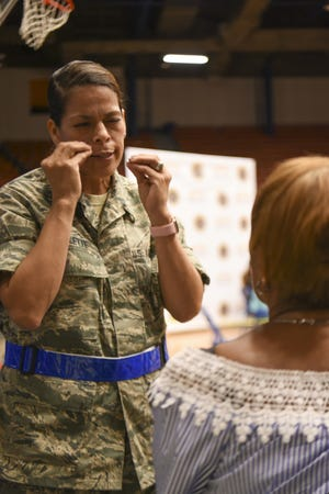 Msgt. Norma Gillette is one of 15 members of the Air National Guard just returned from Puerto Rico. Three others were just activated to assist with relief efforts from Hurricane Florence.