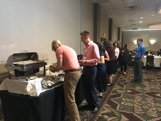 The Young Professional Summit at the Holiday Inn Binghamton Downtown kicked off with a breakfast.