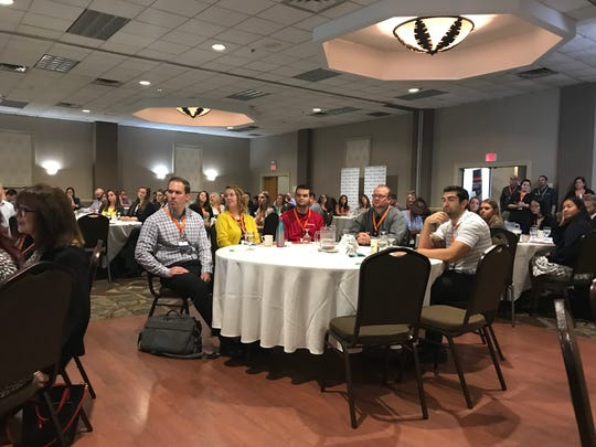 About 250 people attended the Young Professionals Summit at the Holiday Inn Binghamton Downtown Friday morning.