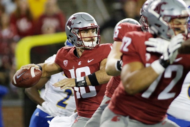Washington State quarterback Gardner Minshew II is averaging 366 yards passing per game in the Cougars' first two outings.
