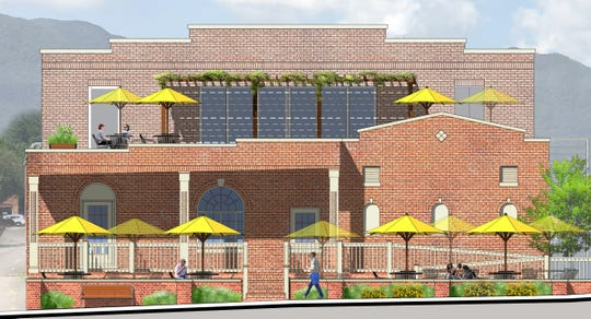 Originally known as Trestle Crossing, this image shows what the restaurant, which will be located at 128 Broadway Avenue, will look like when completed. The project, now known as Railway Exchange, is part of the larger development on the busy thoroughfare that will contain a three-story mixed-use building when completed.