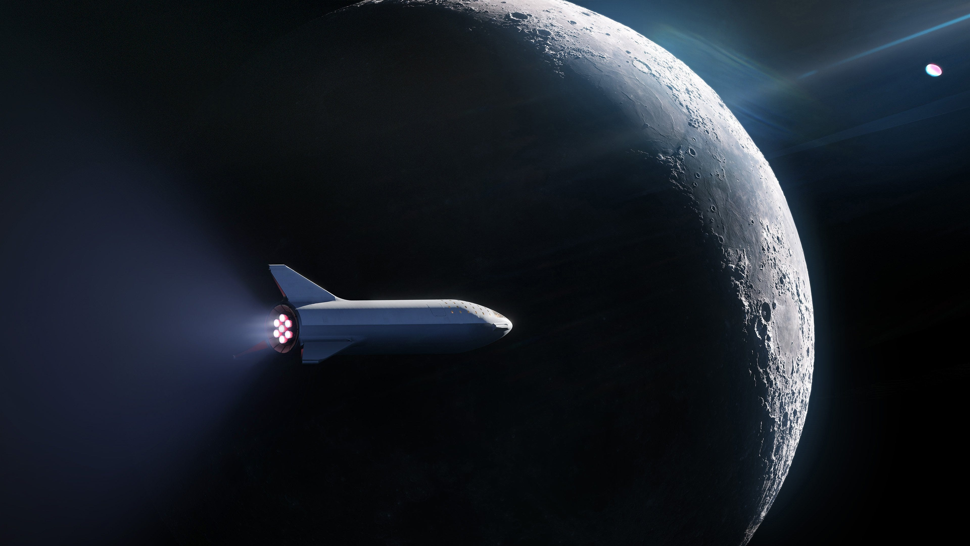 A rendering of SpaceX's Big Falcon Rocket crew...