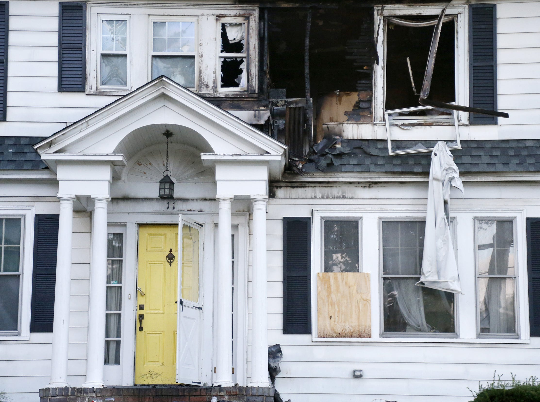 A house on Herrick Road in North Andover, Mass., is seen Friday, Sept. 14, 2018. The home was one of multiple houses that went up in flames on Thursday afternoon after gas explosions and fires triggered by a problem with a gas line that feeds homes in several communities north of Boston