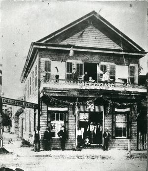 The old Kinney House Hotel at the corner of Chaparral and William was converted into  George Noessel's store in 1855 and then became the first home of the Corpus Christi Caller in 1883.