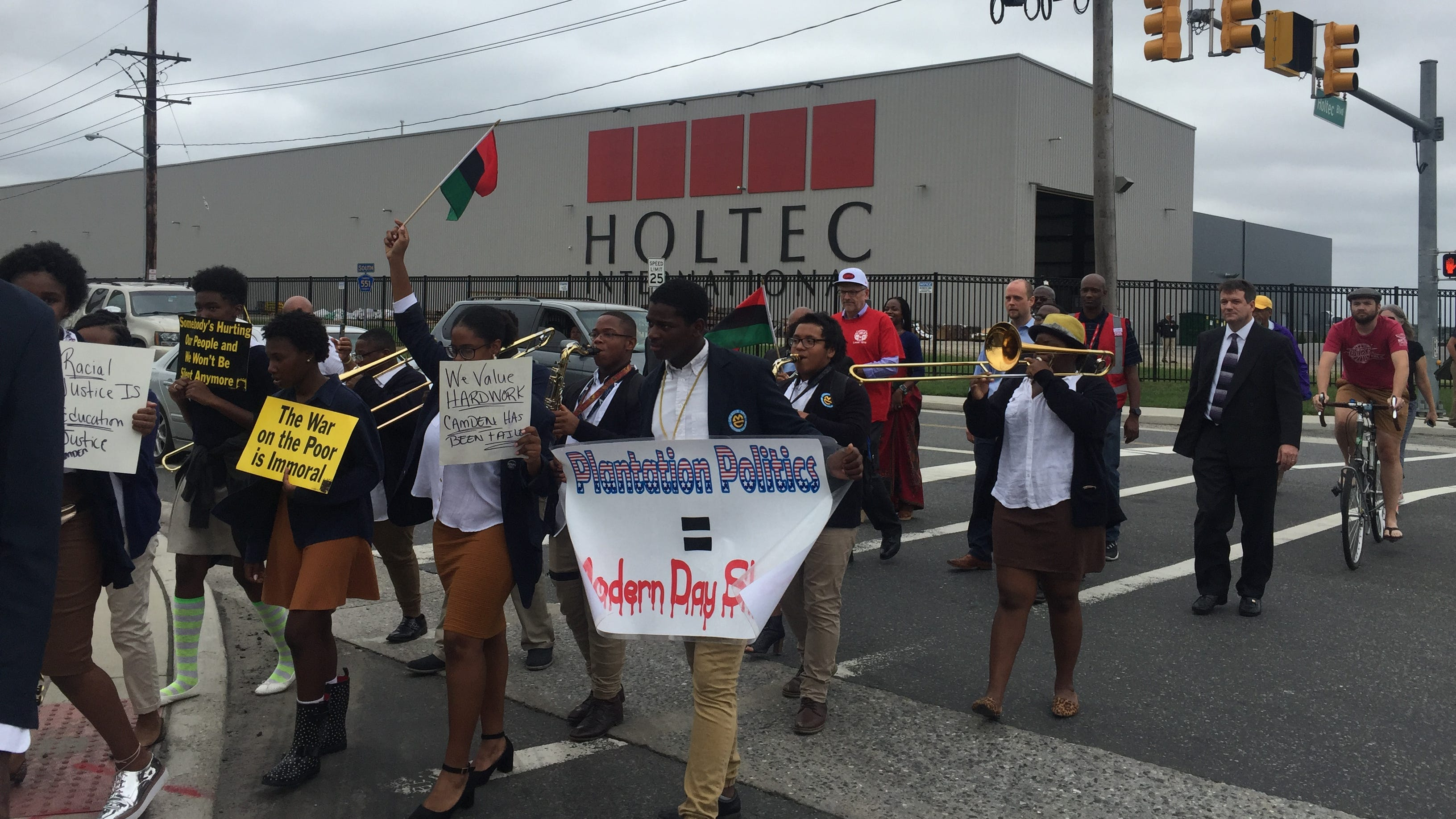 Protests, promises to move forward after Holtec CEO's comments