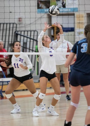 Zane Trace High School volleyball defeated Piketon High School in three sets on Tuesday.
