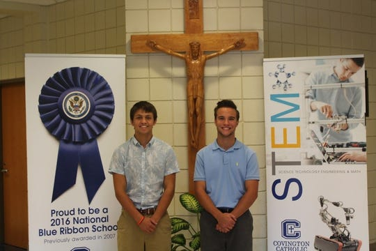 Harrison Farrar and Nathan Guenther of Covington Catholic High School are semifinalists in the National Merit Scholarship Program.