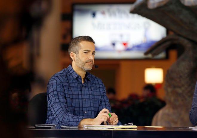 MLB network host Matt Vasgersian during the MLB winter meetings at Walt Disney World Swan and Dolphin Resort in December of 2017.