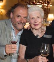 Chef Jean-Robert de Cavel with Marjorie Valvano.