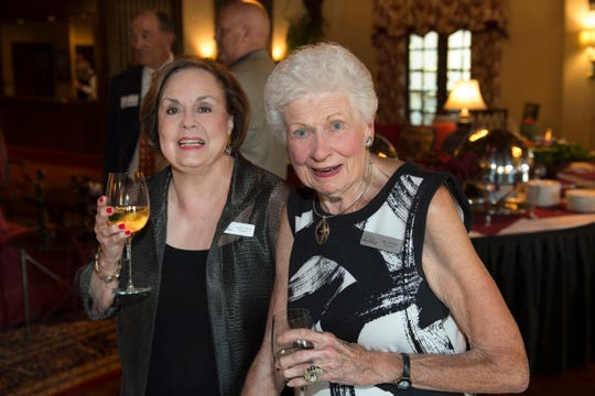 Cookbook author and chef Marilyn Harris with Marjorie Valvano.