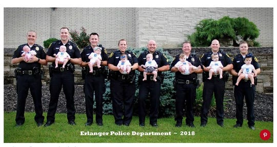 In less than a year, eight Erlanger police officers have welcomed babies.