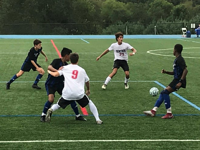 The Hunterdon Central boys soccer team defeated Gill St. Bernard's 4-1 on Thursday, Sept. 13, 2018.
