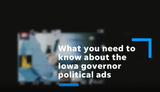 Six facts about political advertisements in the Iowa gubernatorial race this year.