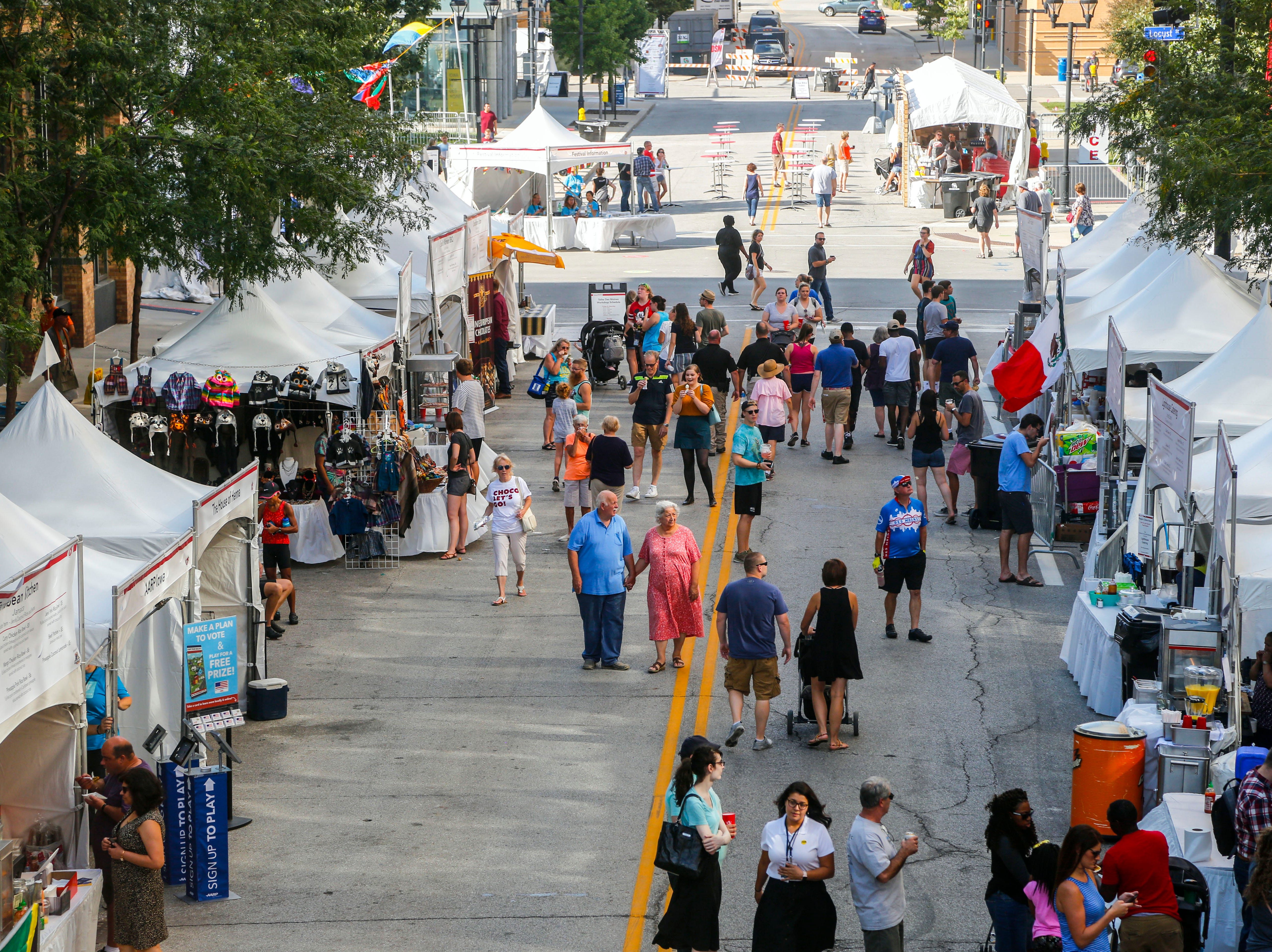 The World Food and Music Festival in Des Moines Sept. 14, 2018.