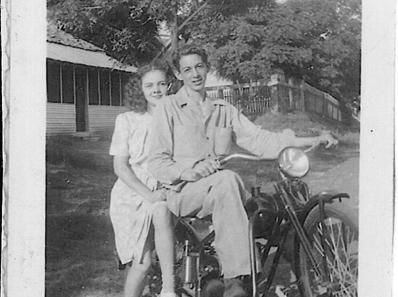 "Nina Looney and A. W. ""Dub"" Barron in an undated photo from the 1940s. Barron married Looney in July of 1945."