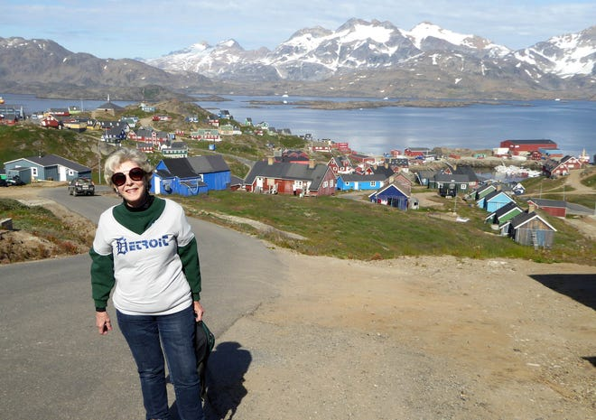 Kay Shaw of Harrison Township took the D to Tasiilaq, Greenland, in August.  She was on a tour with Overseas Adventure Travel.