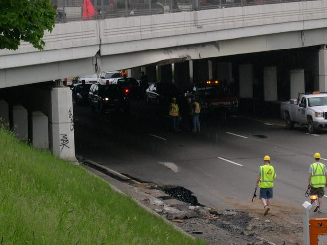 Michigan overpasses and bridges have suffered bridge strikes for years,  such as this incident in 2007 when a steel hauler hit the Warren Avenue overpass about eastbound I-94 in Detroit.