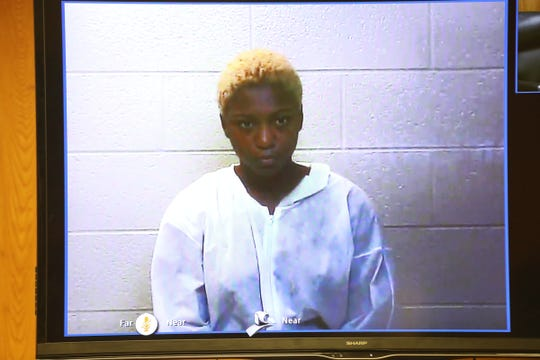 Tanaya Lanay Lewis, 17, is arraigned Friday, Sept. 14, 2018 in 37th District Court in Warren on first-degree murder in stabbing death of classmate at Fitzgerald High School.