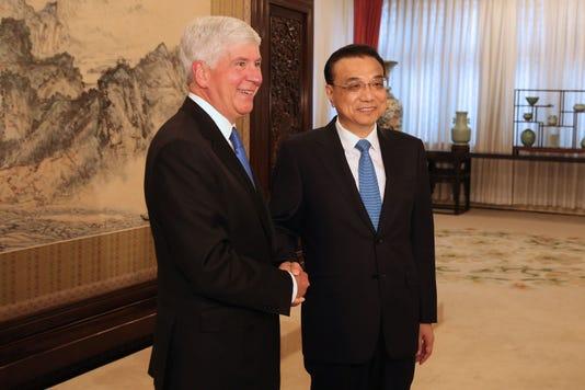 Chinese Premier Li Keqiang Meets Michigan Governor Rick Snyder