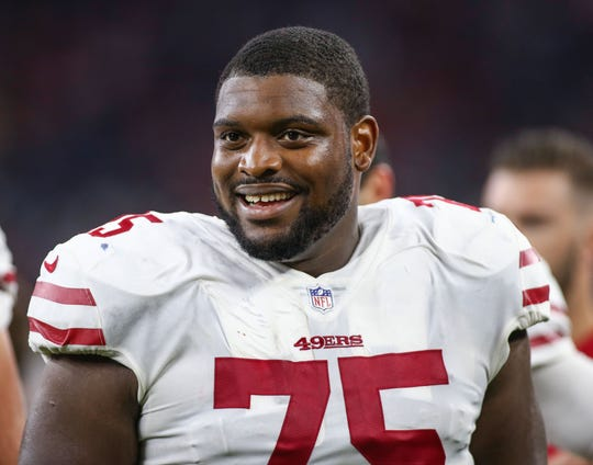San Francisco 49ers guard Laken Tomlinson.