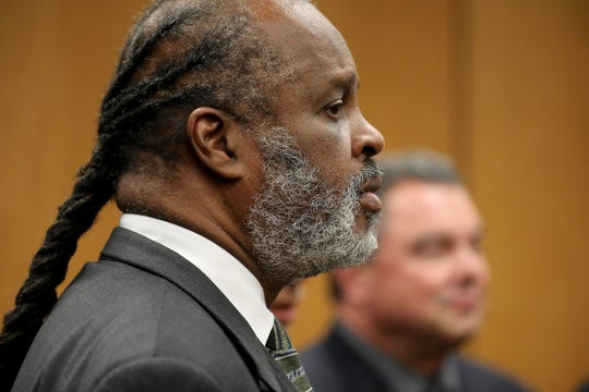 Defense Attorney Mark Brown represents the defendant Tanaya Lanay Lewis, 17, during her arraignment on Friday, Sept. 14, 2018 at the 37th District Court in Warren, Mich. on first-degree murder for the stabbing death of a classmate at Fitzgerald High School on Wednesday.