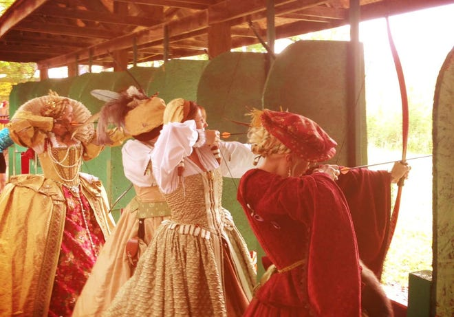 The Michigan Renaissance Festival's Harvest Huzzah weekend is acclaimed for its archery competitions and BBQ Championship.