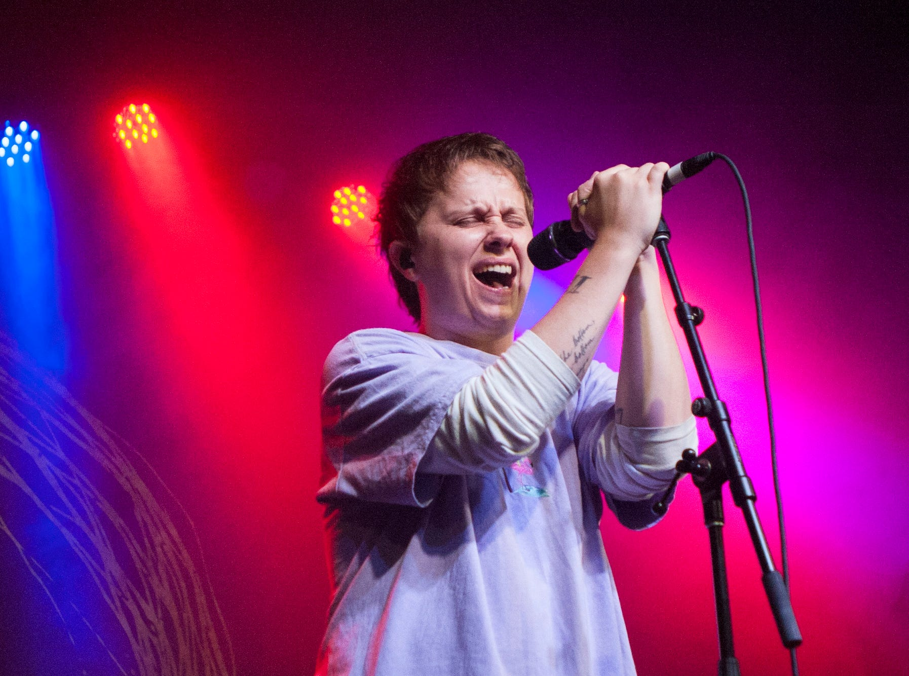 Nothing But Thieves lead vocalist Conor Mason performs at St. Andrews Hall in Detroit.