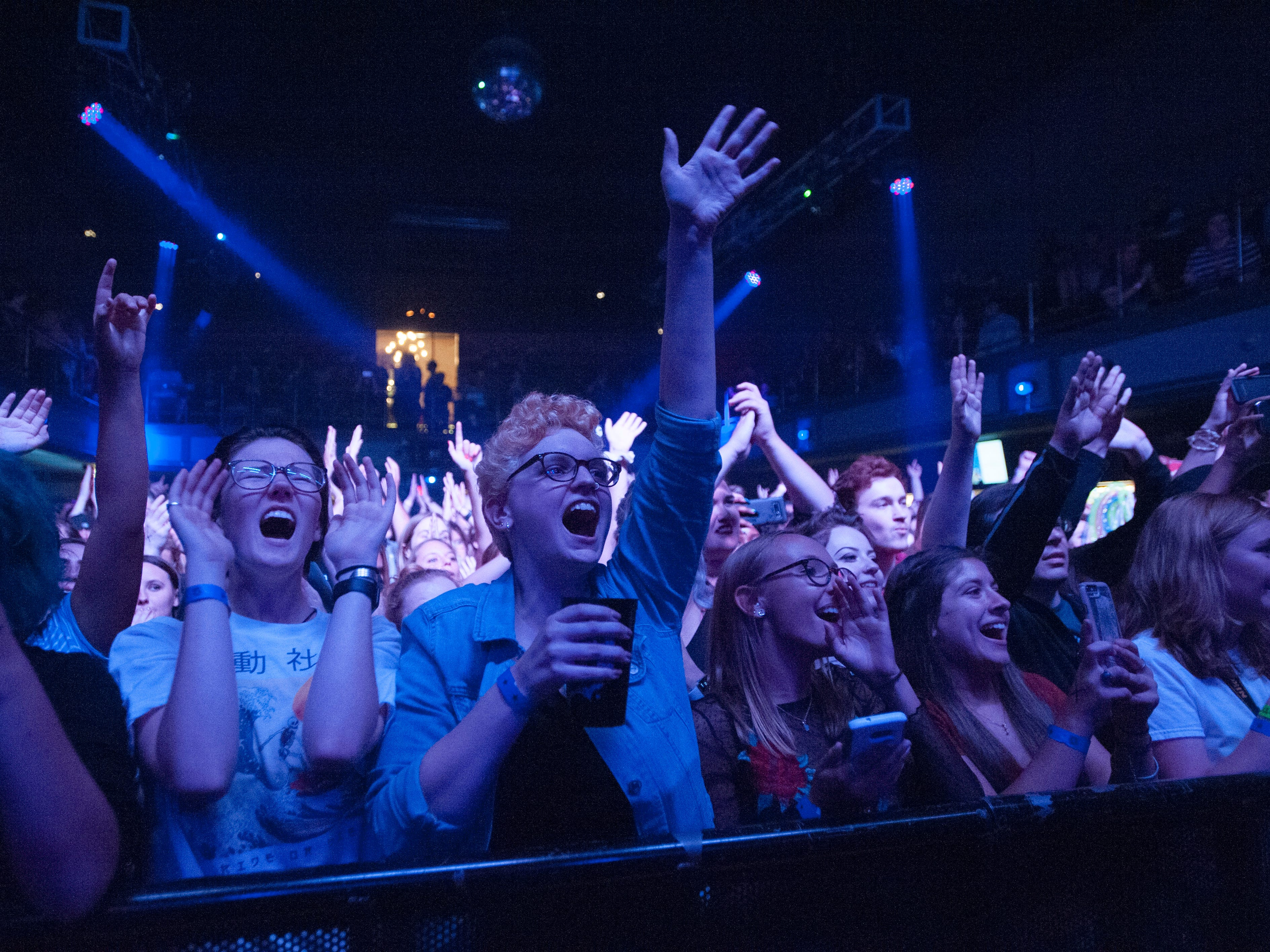 Music fans cheer as Nothing But Thieves takes the stage at St. Andrews Hall in Detroit.
