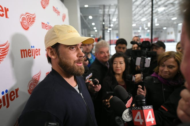 Henrik Zetterberg met with the media on Friday morning at Wings' training camp to discuss his retirement  from the NHL due to a back condition.